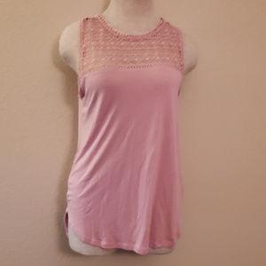 H&M pink tank top blouse S